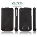 SGP Leather Case Valencia Swarovski Series for iPhone 4, 4S [Black] (SGP06882S)